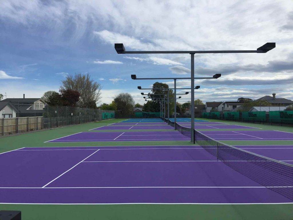 New courts at Waimairi Tennis Club, New Zealand